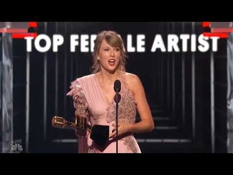 Taylor Swift Accepting Top Female Artist Award - BBMAS 2018