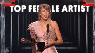 taylor swift accepting top female artist award bbmas 2018
