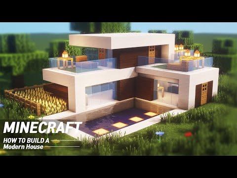 Minecraft : Quartz Small Modern House Tutorial|How to Build in Minecraft (#60)