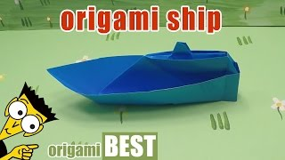 Origami ship. How to Make a Boat - Origami BEST #origami