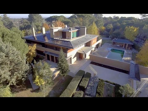 VIDEO DRON.. ESPECTACULAR MANSION GRAN LUJO DISEÑO EN MADRID