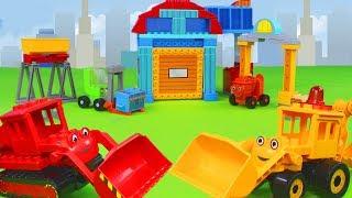 Bob der Baumeister: Spielzeugautos, Bagger, Lastwagen & Kran Baustelle Unboxing für Kinder