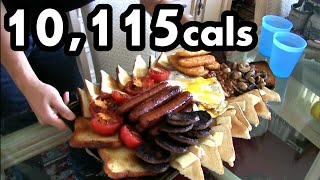 Massive 10,000 Calorie English Breakfast Challenge