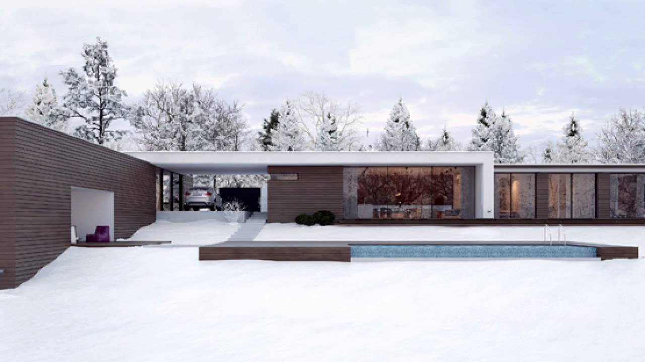 Modern minimalist holiday house by line architects in chisinau ...