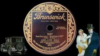 Baby - 1928 - Adelaide Hall - Blackbirds of 1928