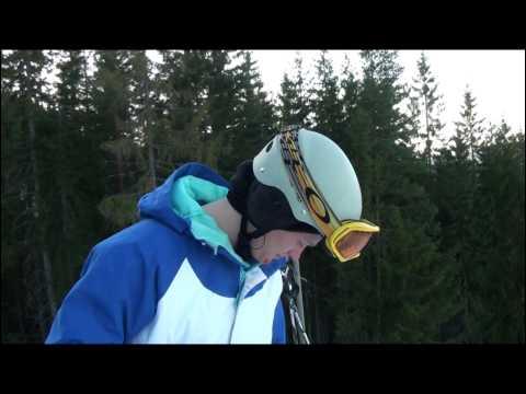 Learning double cork on snowboard in Varingskollen, Norway