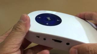 Neon Portable Wireless MP3 Music Doorbell Door Chime, SD Card USB Port, 3.5mm aux - Unboxing