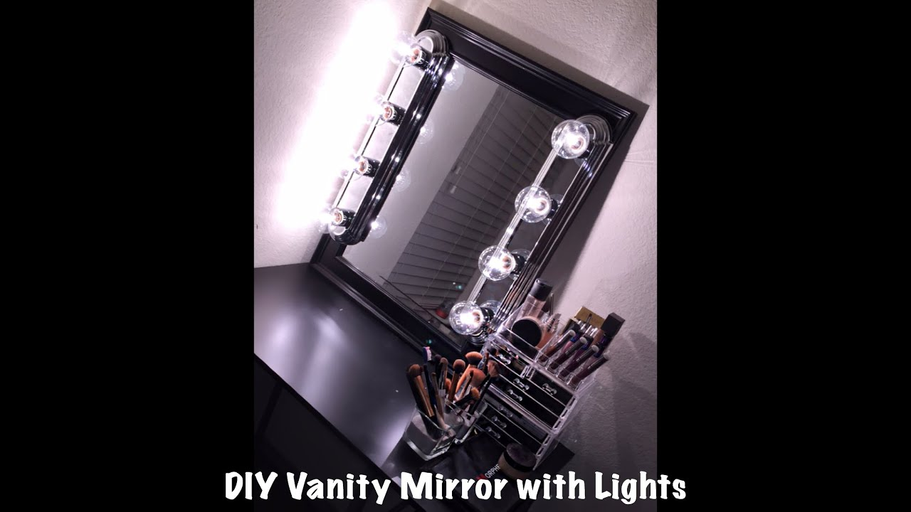 Diy Bathroom Lighting Ideas With Original Images: DIY Vanity Mirror With Lights