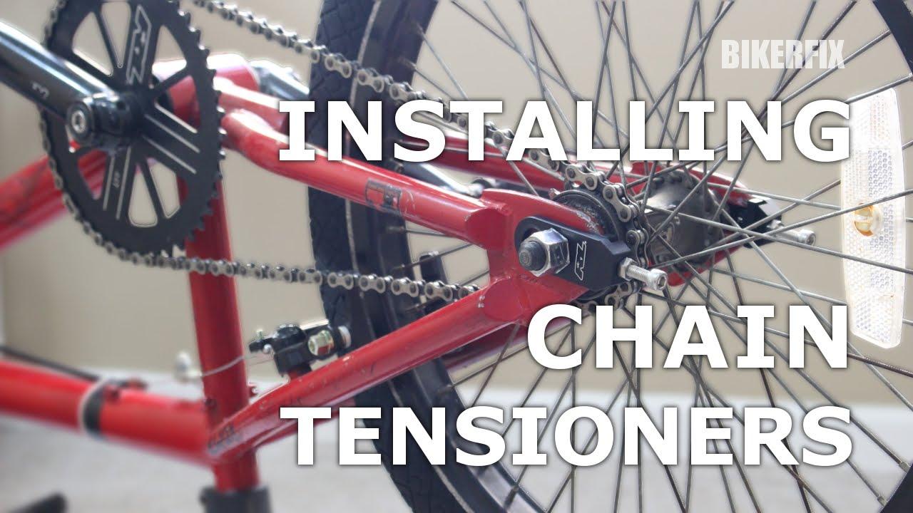 maxresdefault how to put install, fix & tighten bmx bike chain tensioner redline