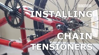 How To Put/Install, Fix & Tighten BMX Bike Chain Tensioner RedLine Haro S&M Fit Demo DK