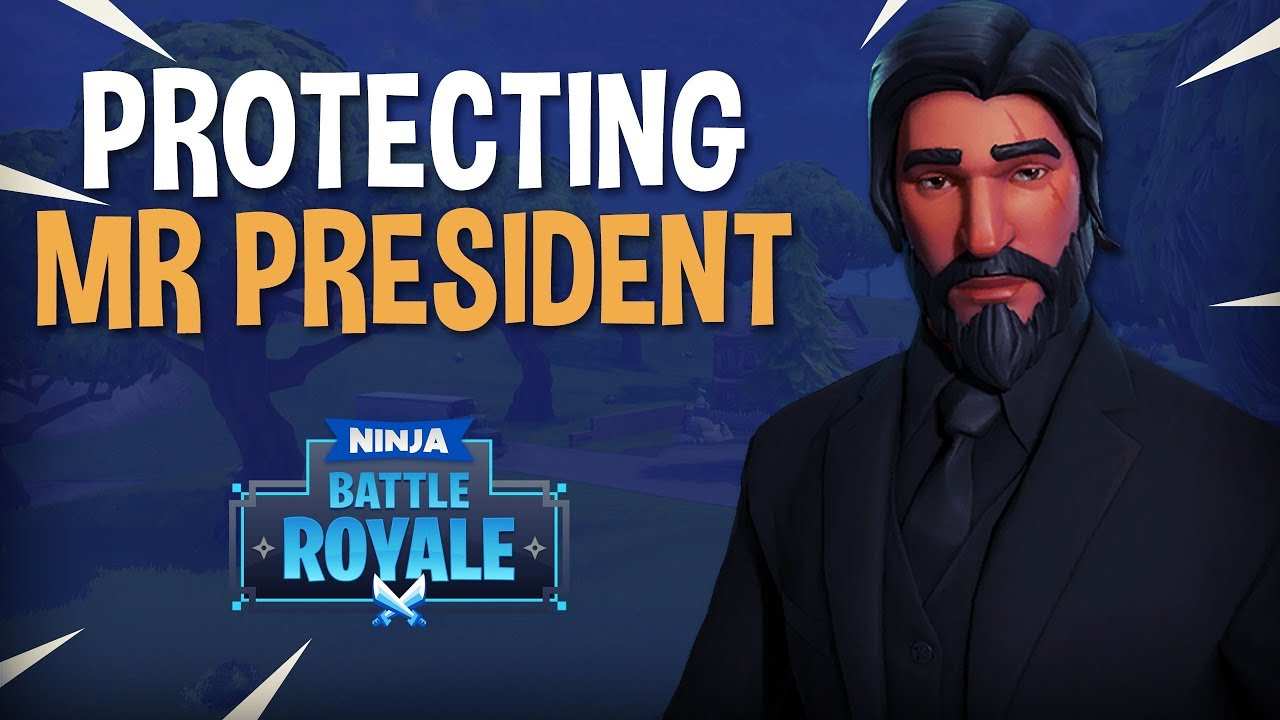 Protecting Mr President Fortnite Battle Royale Gameplay Ninja