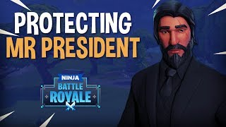 Protecting Mr. President - Fortnite Battle Royale Gameplay - Ninja