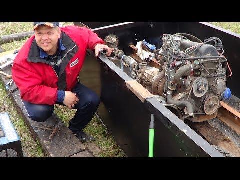 Катер с двигателем ВАЗ. Колеса крутятся. 6 серия