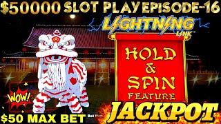 High Limit Lightning Link Slot MASSIVE HANDPAY JACKPOT & COMEBACK-$50 MAX BET| SEASON 6| EPISODE #16