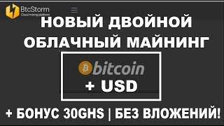 НОВИНКА!  BtcStorm - майнинг биткоина и USD без вложений! + 30GHS на халяву!