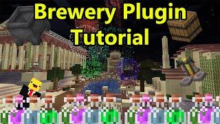 Minecraft Brewery Plugin Tutorial  - (Beer, Vodka, Alcohol) - Minecraft 1.15 - ( Towny Server )