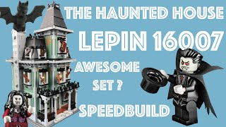 Speed Build Lepin 16007 The Haunted House - China copy of Lego 10228