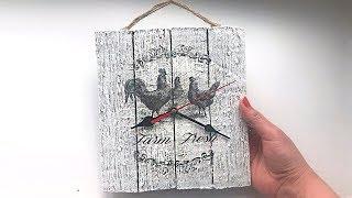 Diy Wall Clock | Craft Ideas | Room Decor | Decoupage