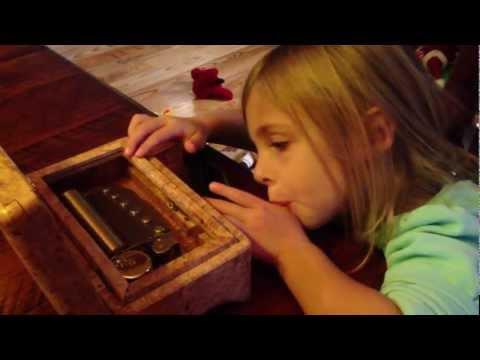 Allies Sankyo Orpheus 50 Note Custom Maple Burl Music Box, Tchaikovsky