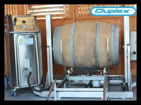 Wine Barrel Cleaning Solutions with Duplex Steam Cleaning Equipment