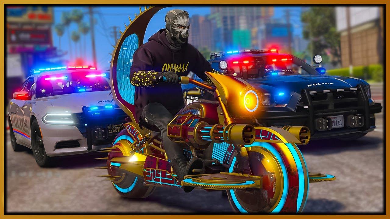 GTA 5 Roleplay - Iron Man death bikes troll cops   RedlineRP