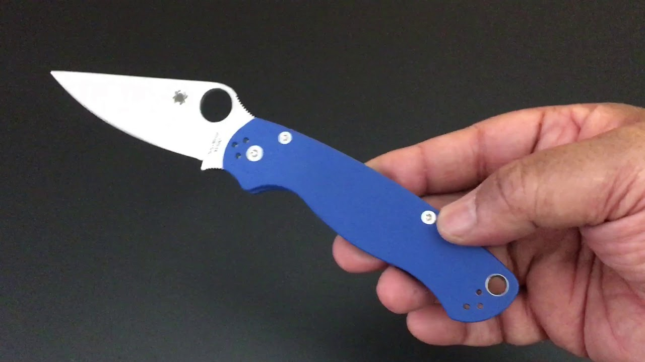 Spyderco ParaMilitary 2 with M390! The Knife of the Day!