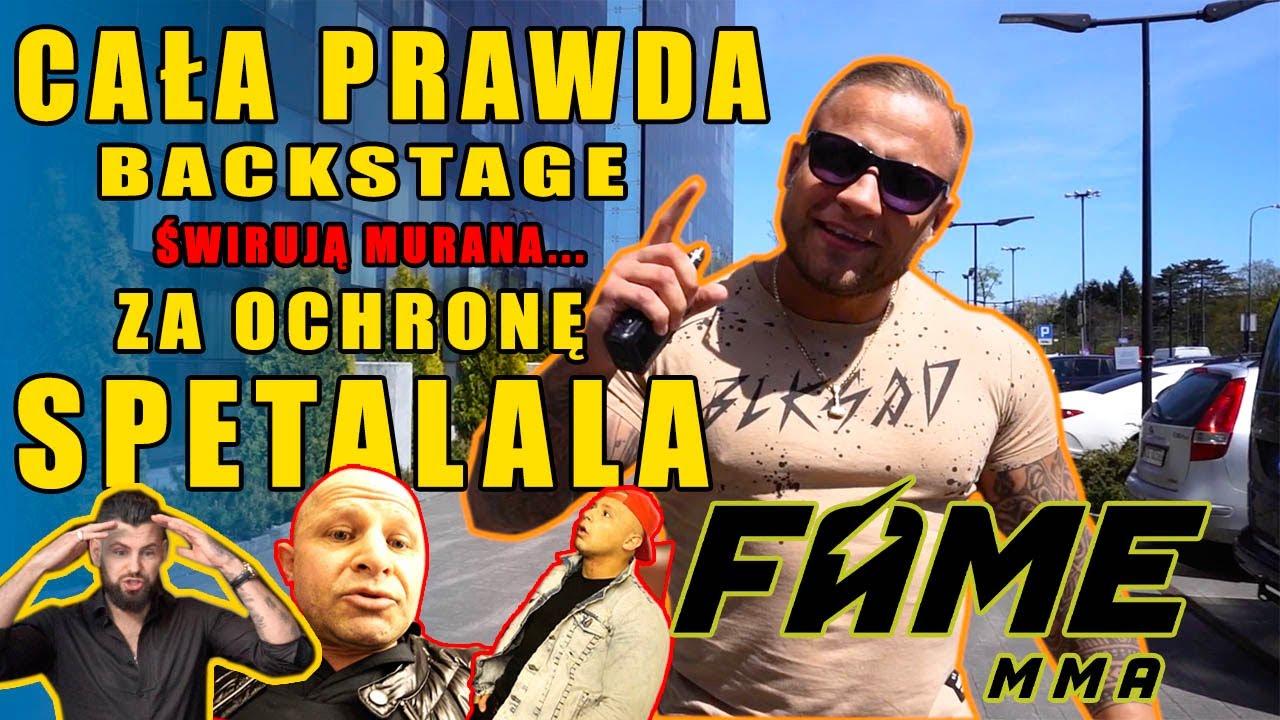Swirują Murana a później za ochrone SPETALALA!! Konferencja FAME MMA 10