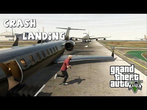 Grand Theft Auto V Crash Landing #2 Shamal and Luxor no Landing Gear