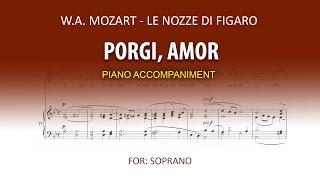 Porgi amor Karaoke piano