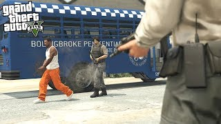 BREAKING OUT OF JAIL IN GTA 5!!! (GTA 5 REAL LIFE PC MOD)
