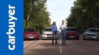 mercedes e class vs bmw 5 series vs jaguar xf vs volvo s90 carbuyer