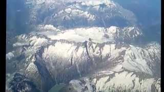 Crossing the Alps near Zurich LSZH