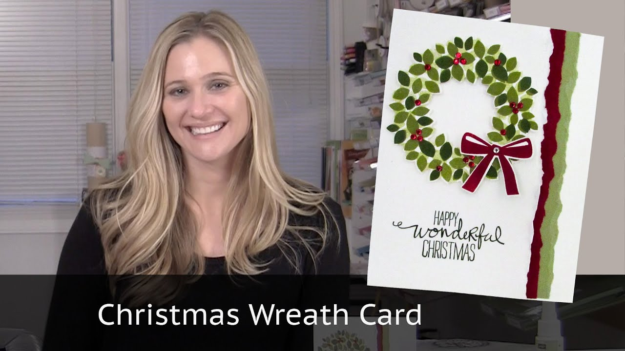 Christmas Card Video Featuring Stampin Up Wondrous