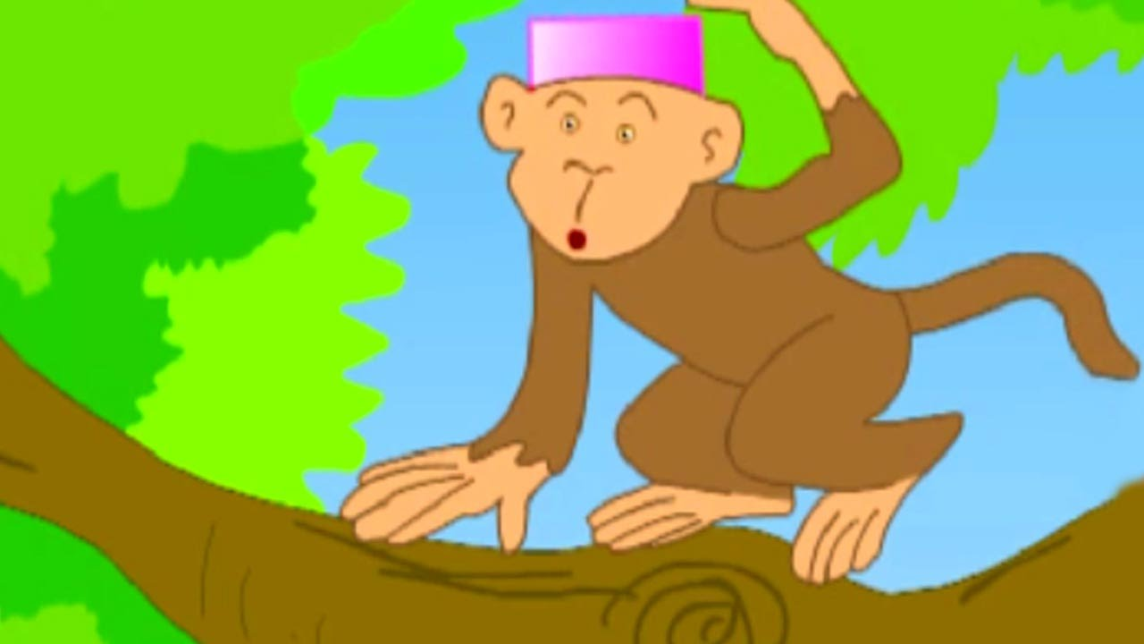 The Cap Seller and The Monkeys - Kids English Animation - Moral Story