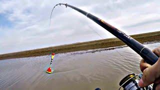 ОТКУДА В ЭТОМ РУЧЬЕ СТОЛЬКО КРУПНОГО КАРАСЯ Рыбалка на поплавок