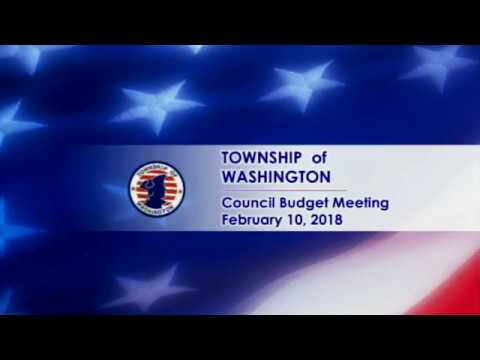 Township Budget Meeting 02.10.18