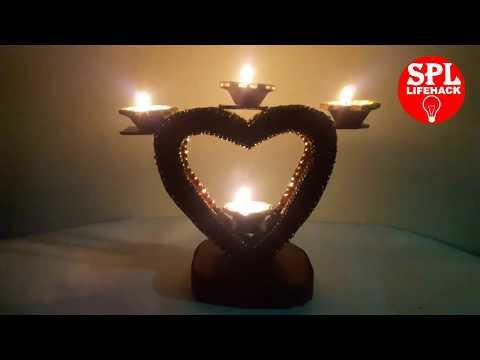 how-to-make-diya-stand-!!-diya-decoration-idea-!!-spl-lifehack-!!-santosh-vaja