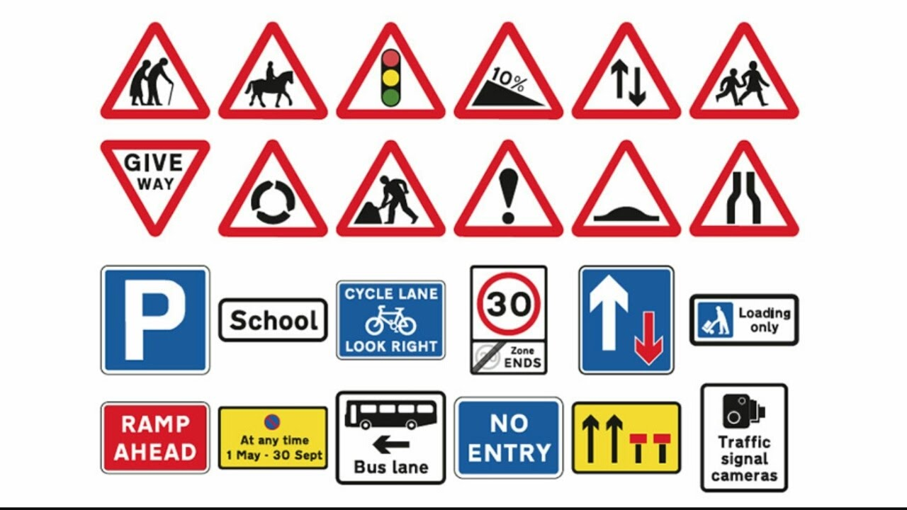 uk road signs theory practice youtube