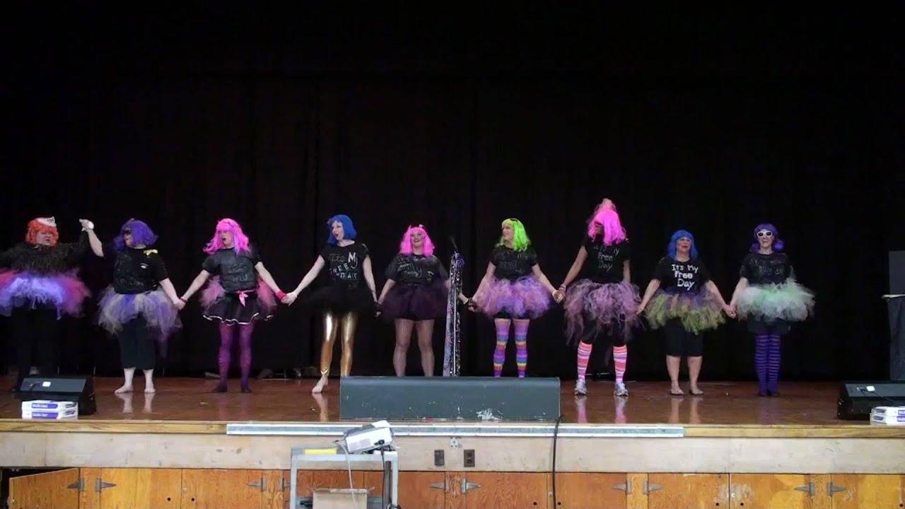Huntington Middle School Staff do an improved GaGa