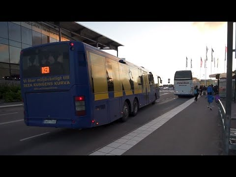 Sweden, ride with free IKEA bus from Stockholm City to Kungens kurva