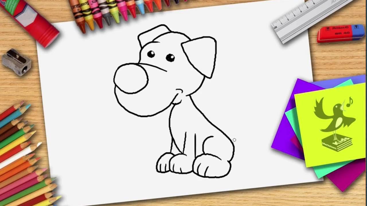 Wie Zeichnet Man Einen Hund Hund Zeichnen Lernen Youtube