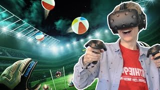 GOALKEEPING IN VIRTUAL REALITY! | Final Goalie: Football VR Simulator (HTC Vive Gameplay)