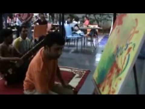 Artiste Pankaj Jha Painting Live