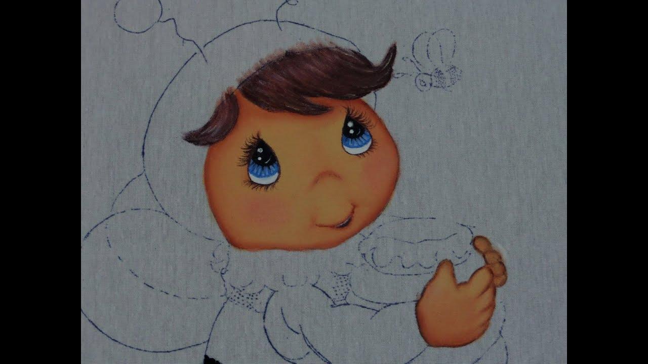 Pintura en Tela - Niño Abejorro - YouTube