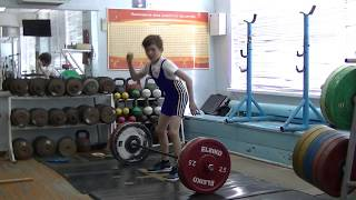 Шумихин Артур, 10 лет, св 28 3 Рывок 25 кг Есть ещё личный рекорд!