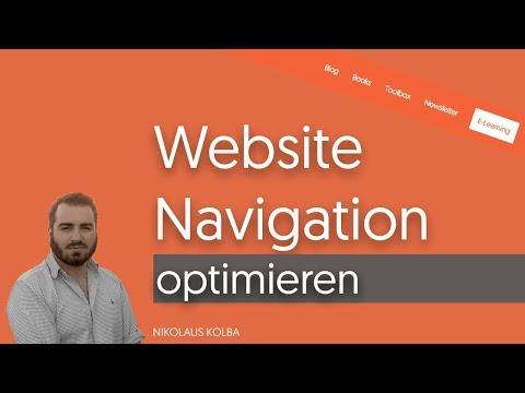 Webseiten Navigation/Menü Optimieren - So Gehts...
