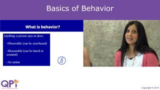 Basics of Behavior