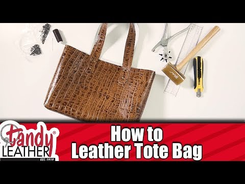 a2322f6dd960 SIMPLE How-To make a Leather Tote bag - YouTube