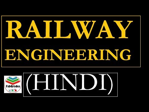 Lec 1 Railway Engineering in HINDI   Transportation Engineering   GATE ESE IES   SSC JE