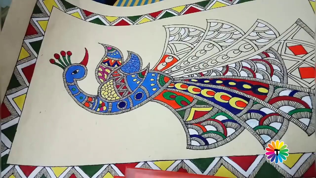 Madhubani Painting With Artist Trivenika Easy Step By Step Tutorial For Beginners Youtube